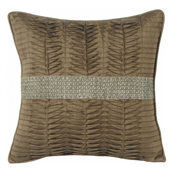 """Cushion Cover 16"""" X 16"""" Gather Gold Beige"""
