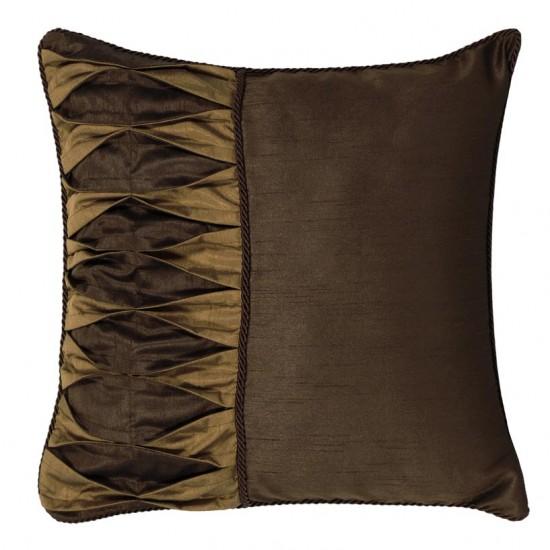 """Cushion Cover 16"""" X 16"""" Diamond Choclate"""