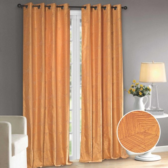 Curtain Feather Triangle (Set of 2) Sun Flower