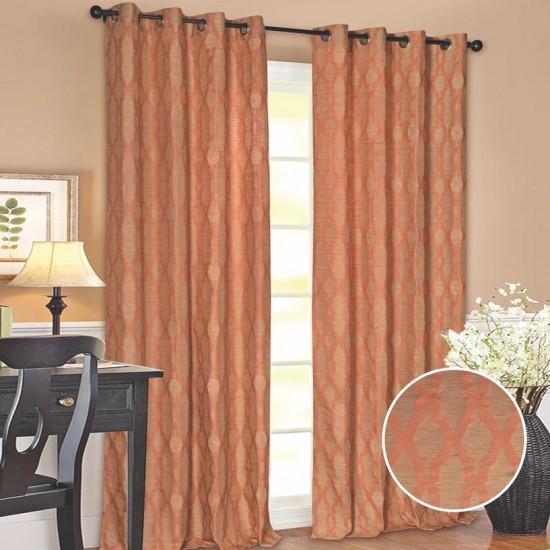 "Curtain (Set of 2) Taupe Passage 52"" x 60"" Orange"