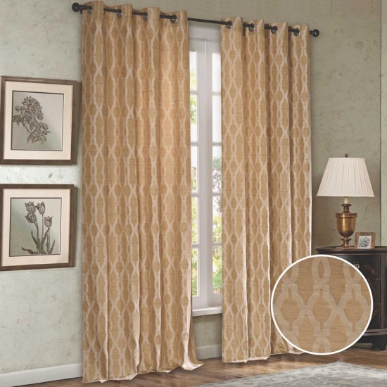 """Curtain (Set of 2)Taupe Passage 52"""" x 108"""" Beige"""