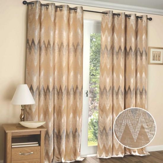 """Curtain (Set of 2) Mud Mansion 52"""" x 108"""" Beige"""