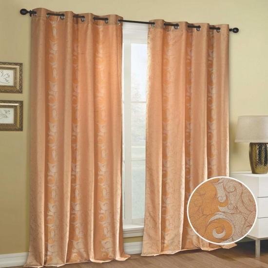 "Curtain (Set of 2) Turmeric Sea 52"" x 90"" Sun Flower"