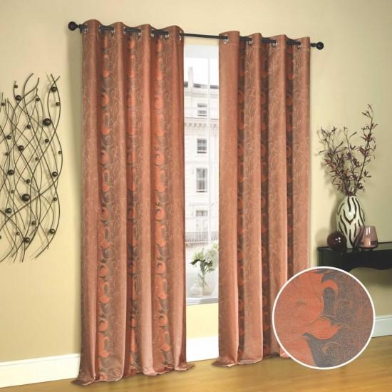 "Curtain (Set of 2) Turmeric Sea 52"" x 108"" Orange"