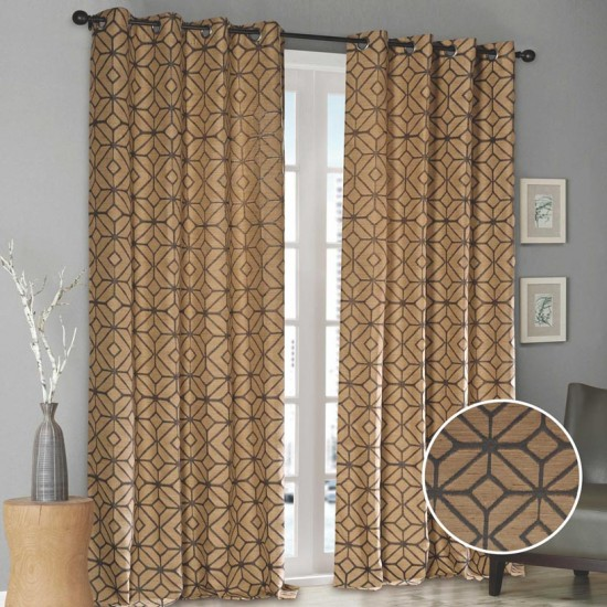 "Curtain (Set of 2) Starlight 52"" x 108"" Grey"