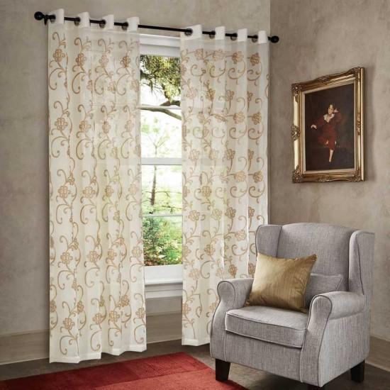"""Curtain Sheer Yamala 108"""" Beige"""