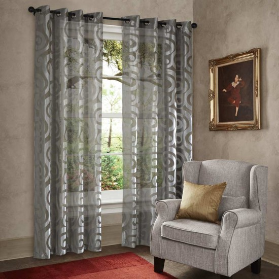 "Curtain Sheer Yukti 108"" Grey"