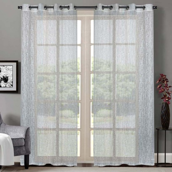 "Curtain Sheer Yogyata 90"" Cream"
