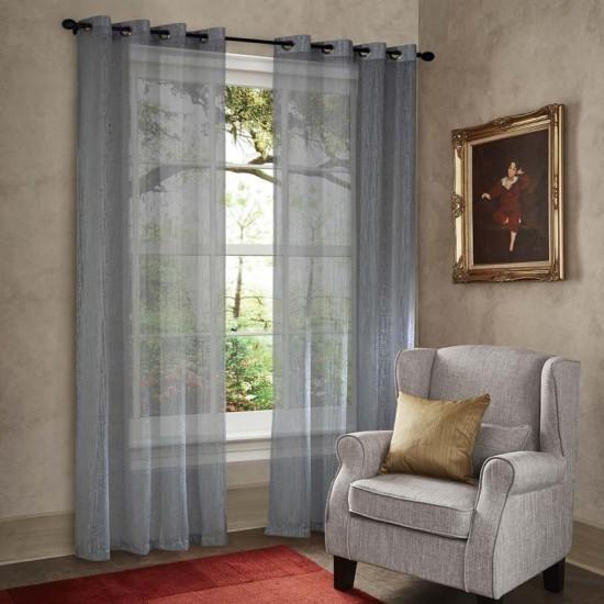 "Curtain Sheer Yogyata 90"" Grey"