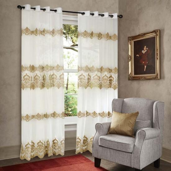 """Curtain Sheer Urmi 90"""" Beige"""