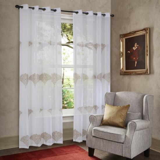 "Curtain Sheer Unnati 90"" Ivory lifestyle"