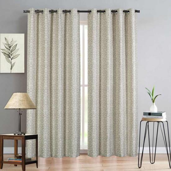 Curt 52X84 Linen Tile s/2 Silver Gray (Curtain)