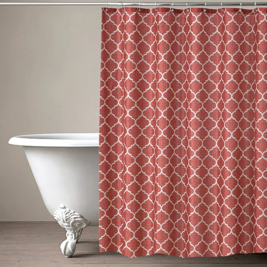 "CURT GRM 71""TRELLIS RED RUST (shower curtain)"