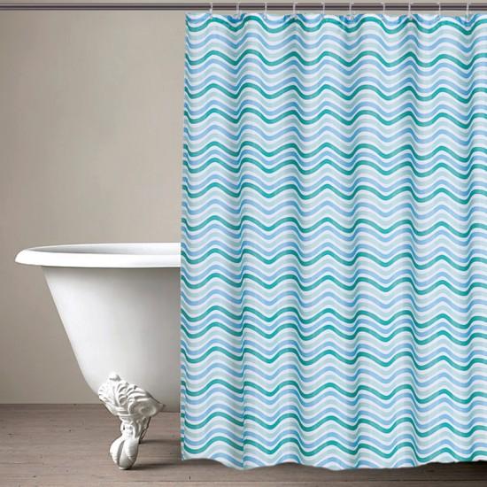 "CURT GRM 71""WAVES DSEA FOAM (shower curtain)"