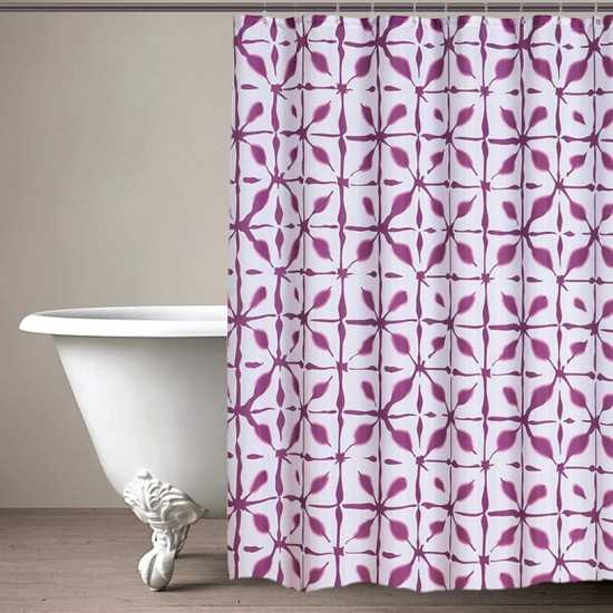 "CURT GRM 71""GEOM MAGENTA P (shower curtain)"