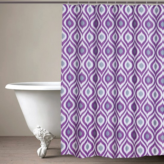 "CURT GRM 71""IKAT PURPLE (shower curtain)"