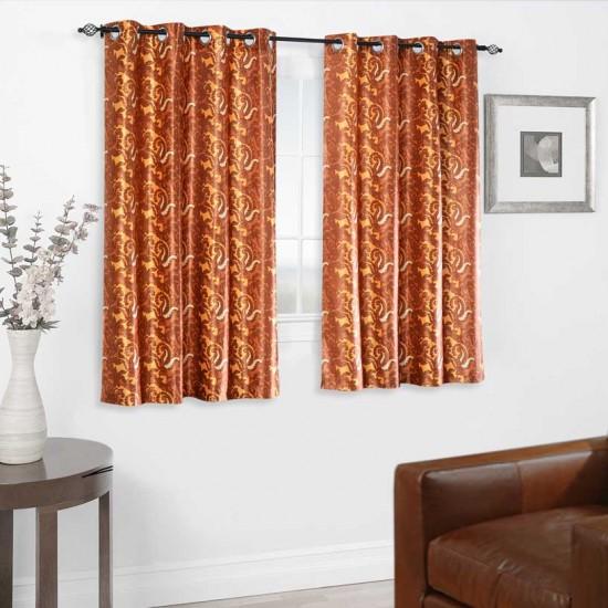 "Curtain Paisley (Set of 2) 46""x60"" Dark Terracotta"