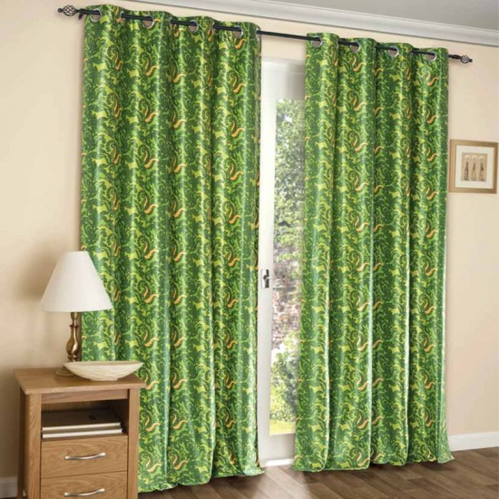 Curtain Paisley (Set of 2) Lime Green