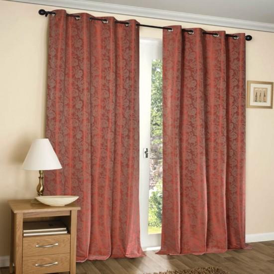 """Curtain 52"""" x 90"""" Carnation Grenadine w/Blackout S/2"""