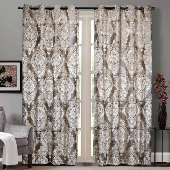 """Curtain Sheer Unnati 90"""" Ivory"""