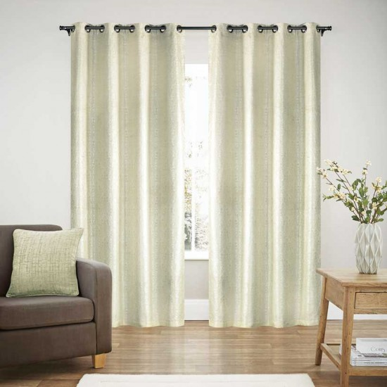 Curtain Blackout S/2 Pearl Ivory 108""