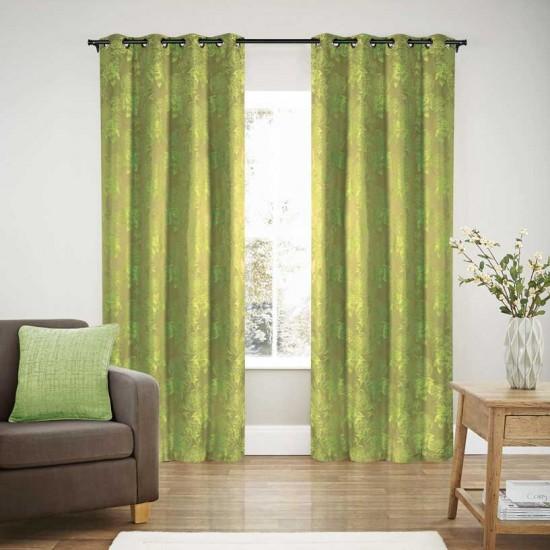 "Curtain Blackout S/2 Florensia Green 90"""