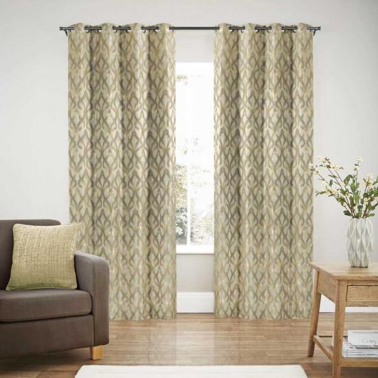 "Curtain Blackout S/2 Taupe Patina 60"""