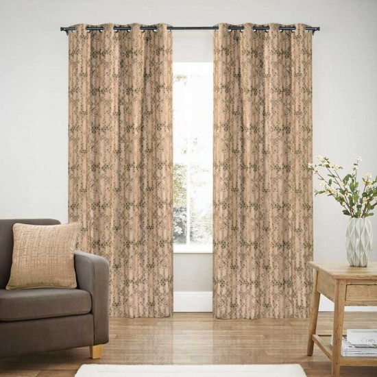 Curtain Blackout S/2 Rebeca Bloom Peach 90""