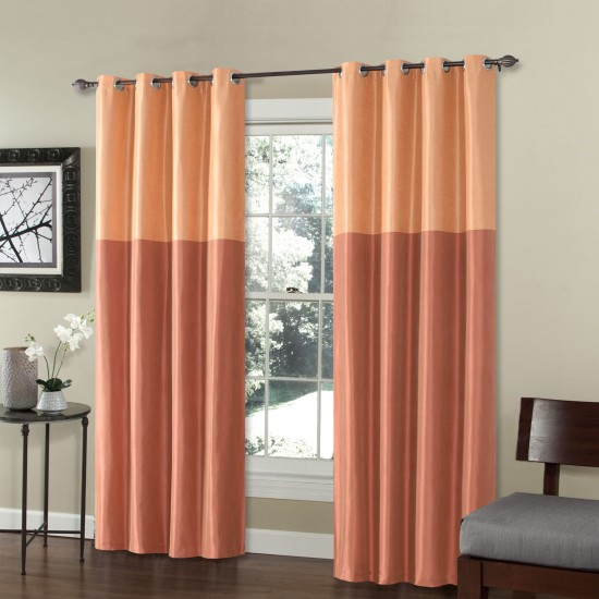 9 ft Curtain Blackout S/2 Silk Weave China Red