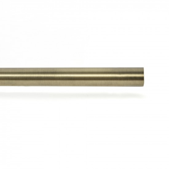 25mm Fixed length Curtain Rod Antique brass 10ft