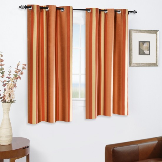 "Single Lining Curtain 46x60"" Light Terracota Extra Broad Stripe"