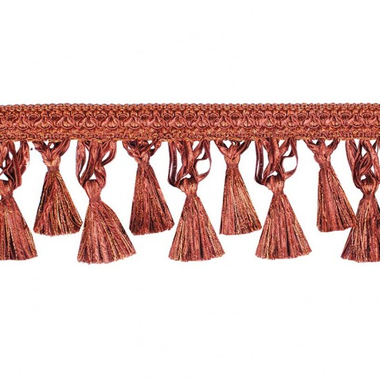 Gazal Tassel Ribbon 10cm New Terracotta Mix (Trims