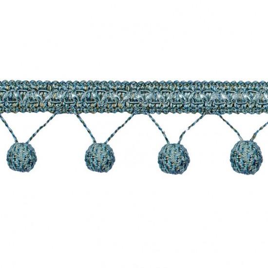 Gazal Pompom 7cm Blue Green Mix (Trims)