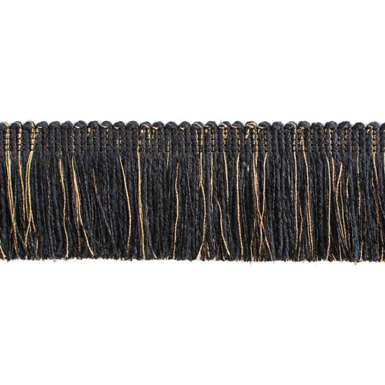 Swirl Brush Dholak Black Gold