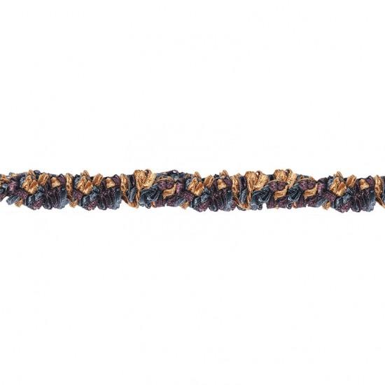 Gazal Cord Ribbon Azure 1.6 cm Smoke