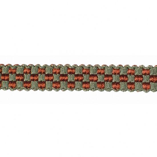 Mosaic Gimp  0.5 inch Brick/Sage /Beige