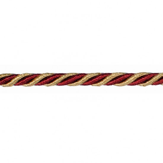 Mosaic Cord 5mm Gold/Red Rust