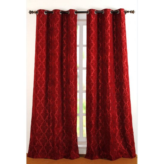 Curtain Victoria Red 96""