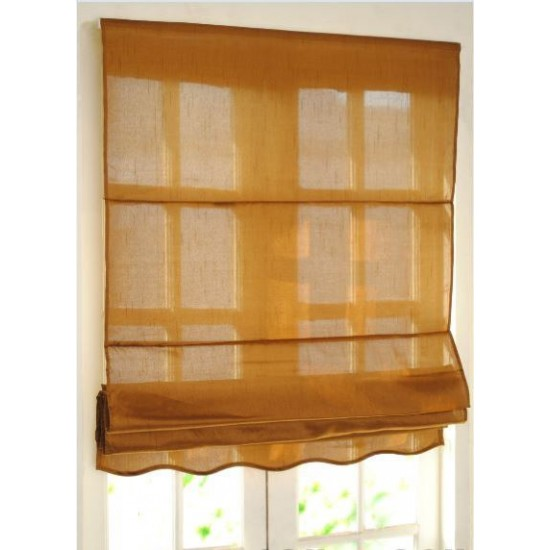 Roman Blinds Bangalore Silk Chocolate