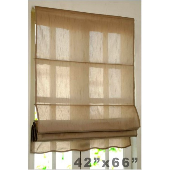 "Roman Blind Bangalore Silk 36"" Black Beige"