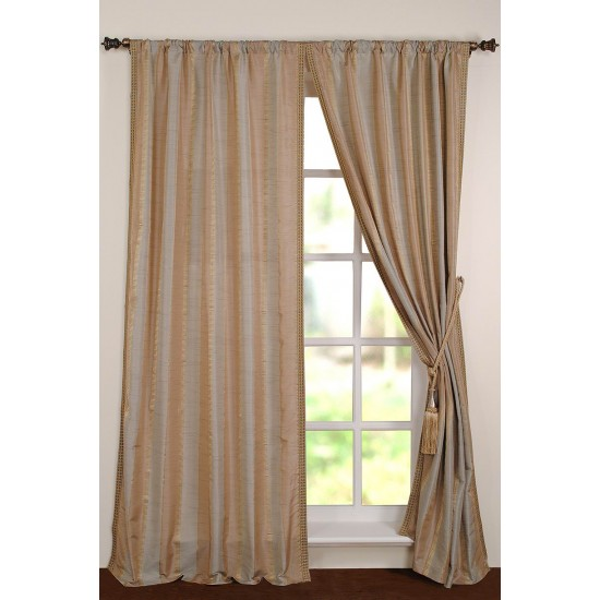 "Curtain Roshni 108"" Pearl Blue"