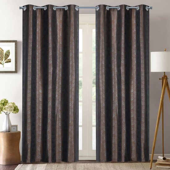 Curtain Kriti Eyelet Chocolate 8ft