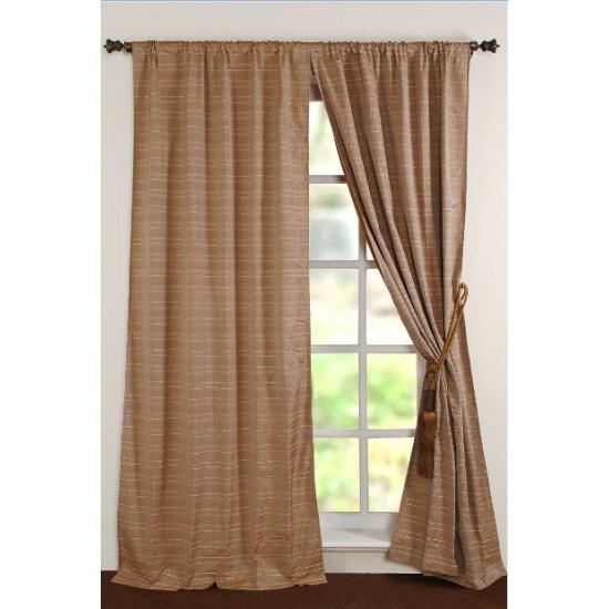 """Curtain Jute 96"""" Gold Beige"""