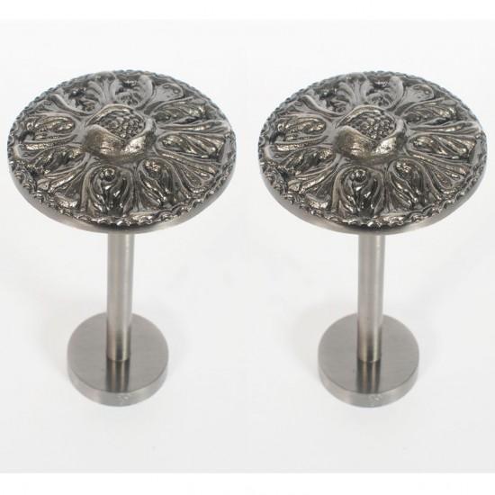 Holdback Round Medallion Nickel oxidised