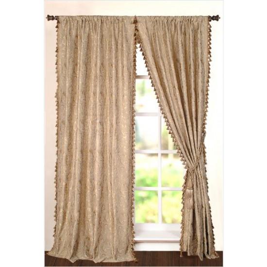 "Curtain Vanfa 96"" Dark Beige"
