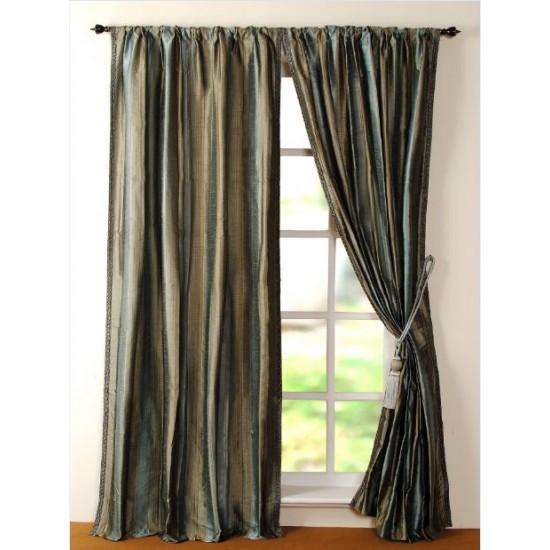 """Curtain Riya 96"""" Teal"""