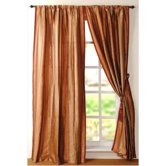 """Curtain Riya 96"""" Terracotta"""