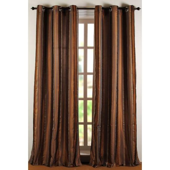 """Curtain Roshni 108"""" Antique Copper"""