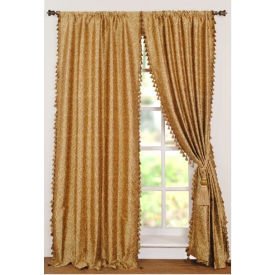 Curtain Jacquard Spiral Gold colour