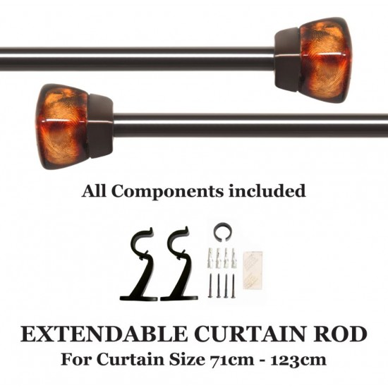 Extendable Curtain Rod Clear Amber